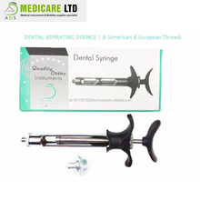 Manufacture Thread Dental Aspirating Syringe 1.8 Ml For European & American