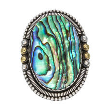 Artisan Crafted Abalone Shell Handmade 925 Solid Sterling Silver Ring 7