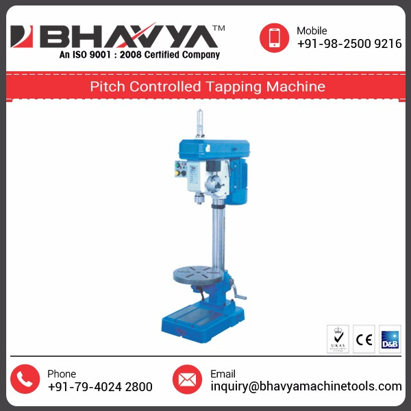 Pitch Controlled Tapping/Drilling Machine with High Operational Fluency