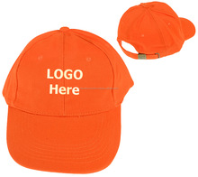 Wholesale Price Baseball Caps Hat Blank Plain Orange Color with Buckle