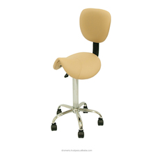Doctor Stool with Comfortable Back Support, ergonomic saddle seat swivel height