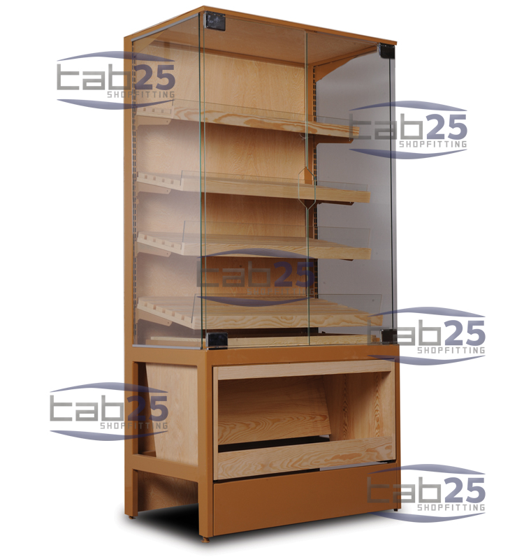 Bakery Display Unit with Wooden Shelf 02