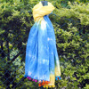 Wholesale bandhej tie dye neck wrap shawl beach cotton sarong scarf pario