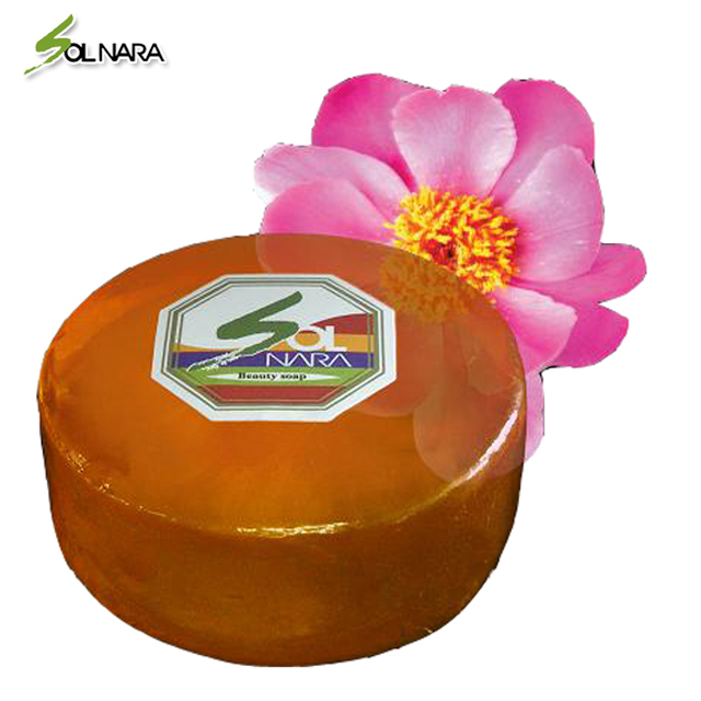 SOLNARA 100% Natural Soap Facial Cleansing Whitening for Oily Skin with Peony Best Korean Skin Beauty Care