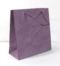 High quality luxury handmade paper shopping bags with full color matching paper cords used handles