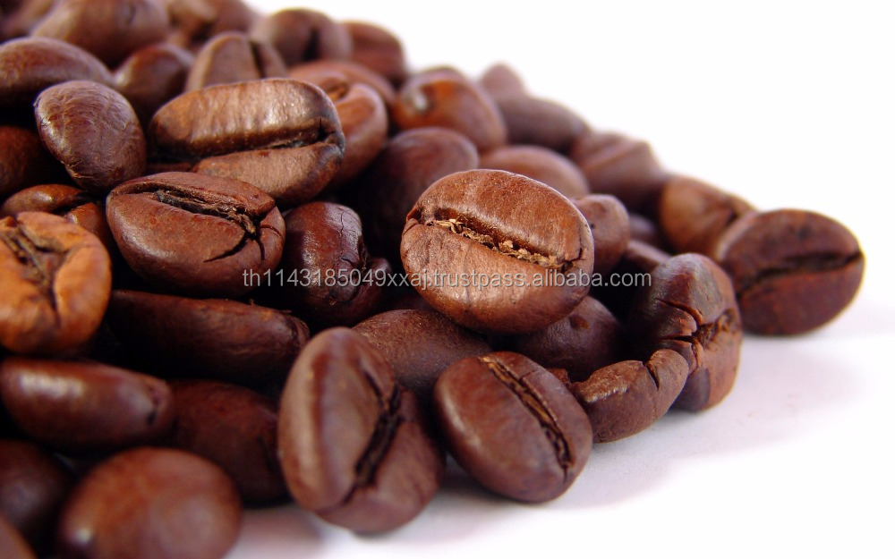 arabica coffee beans roasted High Quality 100% from Chiangrai Thailand