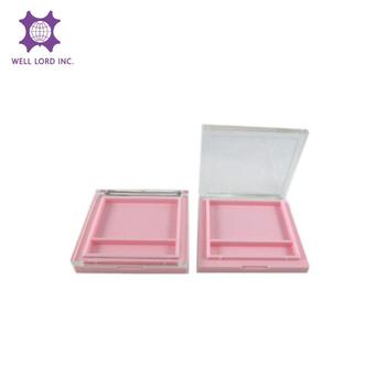 Cute girly makeup light clear plastic pink case for cosmetics