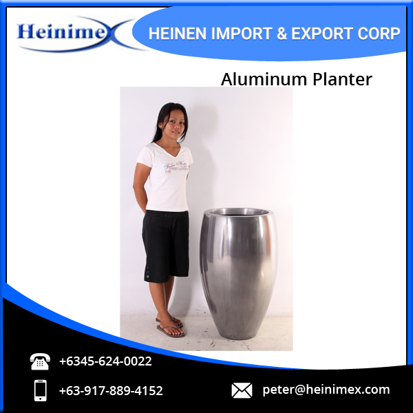 Beautiful Designed Aluminum Plant Container/Planter at Low Price