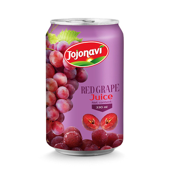 Wholesale fruit juice aluminium can 330ml Natural red grape juice