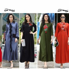 Your choice Bollywood Fashion gown style Kurties