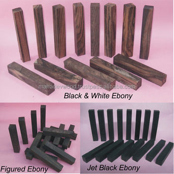 Latest Wood Pen Blanks of ebony, Pen Blank of Figure Ebony, Black & White Ebony at low rate