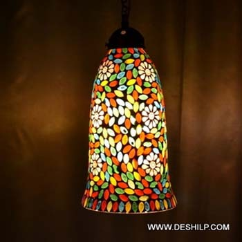 MOSAIC GLASS HANGING,DECORATIVE RESIDENTIAL HANGING