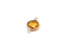 Best Quality Handmade Citrine Quartz Bezel Connector With Gold Plated Available in Single and Double Bail