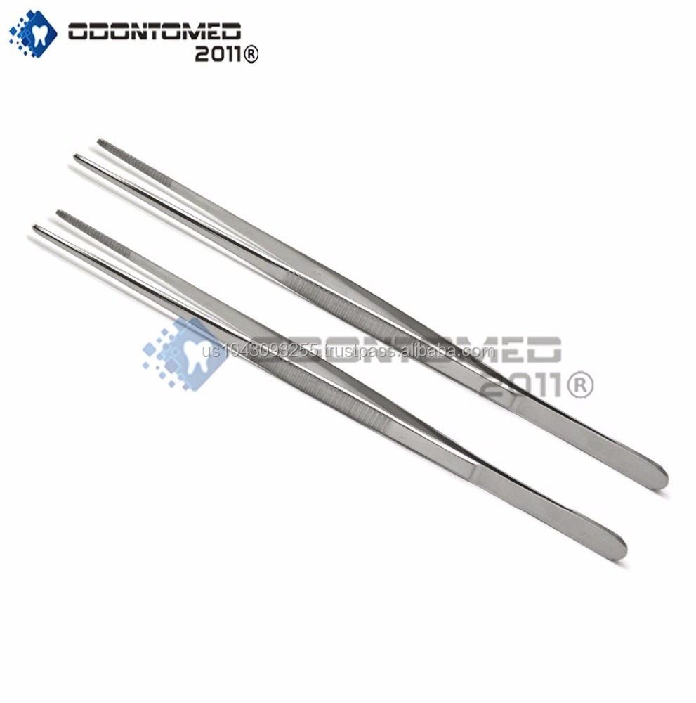 12-INCH STAINLESS STEEL TWEEZERS - TWO PACK QUALITY INSTRUMENTS