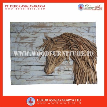 Wall Decoration With Animal Head - Wooden Wall Decoration - Wood Wall Art - Wood Wall Decor