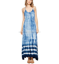 New Arrival Women's Stylish Long Blue Life Summer Breeze Halter Dress