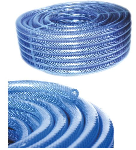 PVC Transparent Reinforced Hose For Gardening and General Purposes