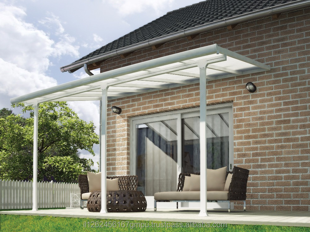 PALRAM Feria patio cover 3X4.25 meter White- Clear