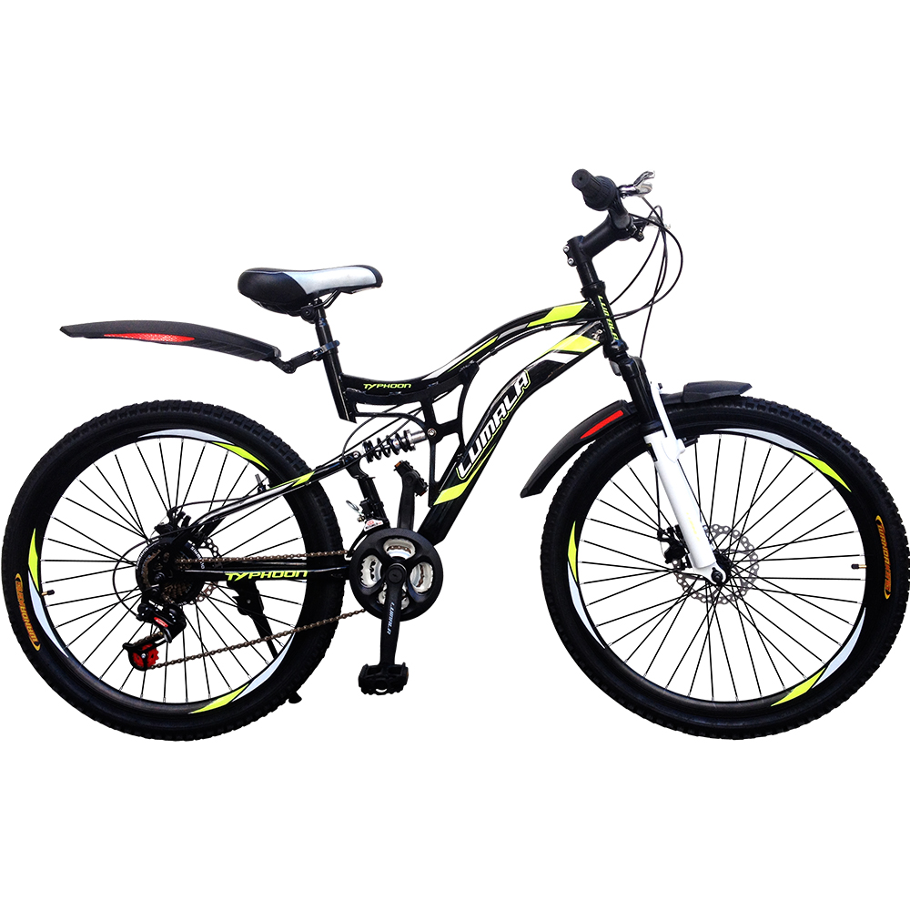 "24""/26"" 21 Speed Dual/Full Suspension Mountain MTB/All Terrain ATB Bicycle with Front/Read Disc Break Lumala Typhoon"