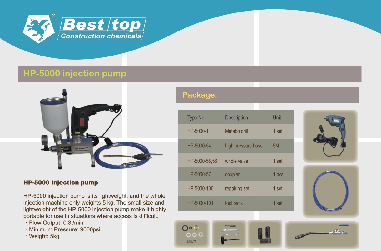 PU injection grout high pressure portable pump machine