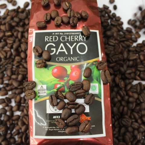 High Quality Organic Red Cherry Gayo Arabica Coffee Indonesia Aceh Coffee
