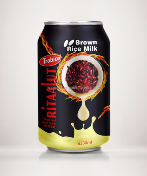 330ml Alu Can Brown rice milk from Trobico Brand