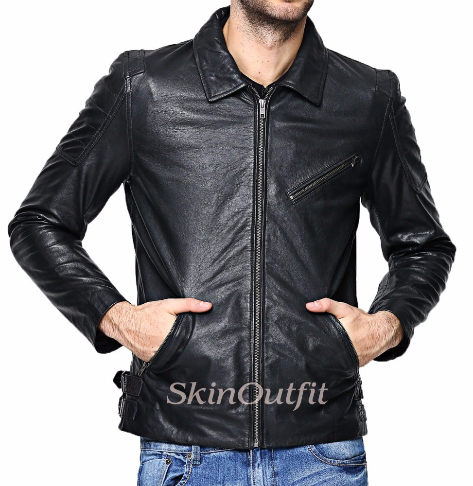 Best Selling Items Men's Real Cow Leather Jackets With American Style