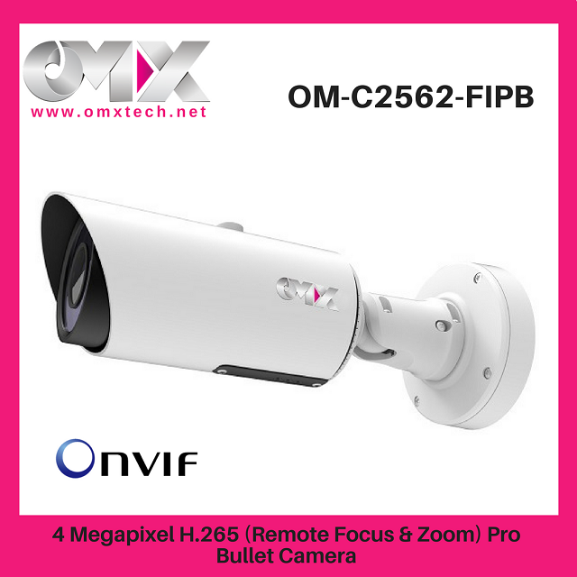 4MP H.265 Pro Bullet SIP IP Camera,Ultra Low-light Smart IR II Motorized Zoom Lens and Weather-proof Housing