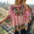 100% Cotton Top Bohemian Wibe Spring Pink Mexican Style Aari Wool Multicolor Embroidery Plus Size Smoke Blouse/Top