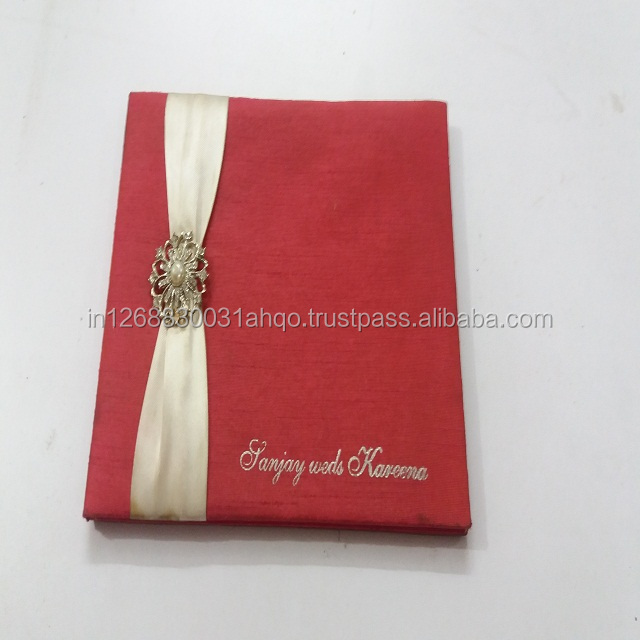 silk invitation card