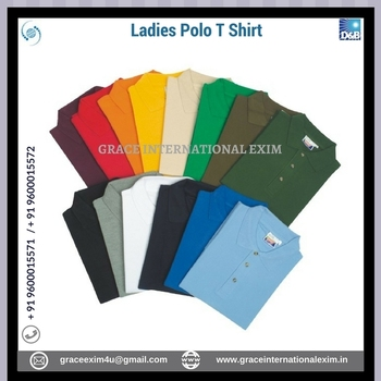 Ladies 2017 best Style 100% PK Cotton Polo T Shirt with custom design