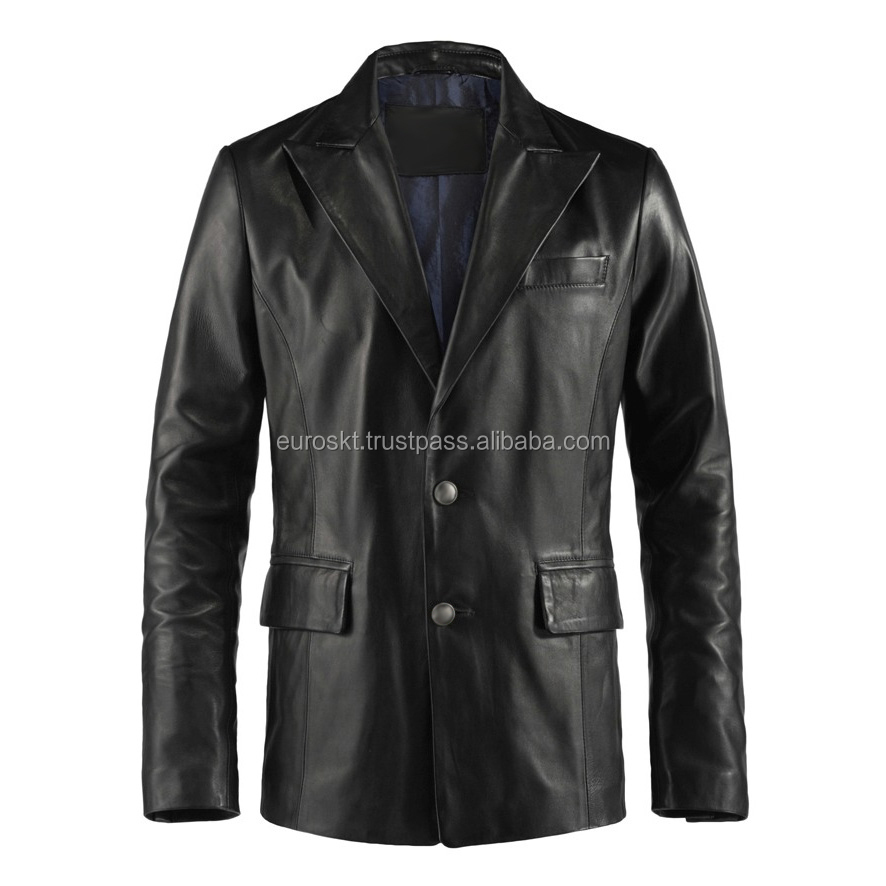 Custom Men's Leather Jacket/Coats | Men's Casual Fashion Winter Leather Coat