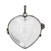 Crystal quartz heart pendant 14k gold diamond sterling silver gemstone openable pendant