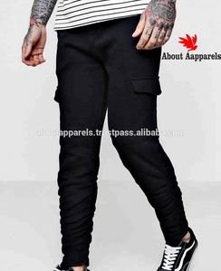 Custom design trouser winter cheap khaki mens cargo pants,Skinny Fit Cargo Trousers With Ruching