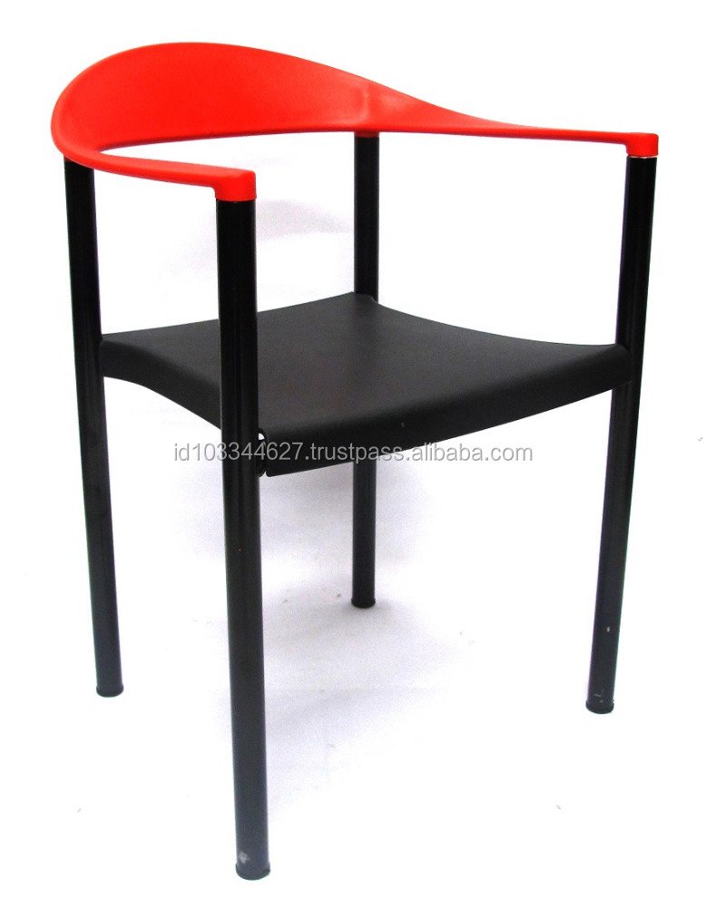 Cheap Plastic Chair With Armrest Modern Minimalist Style High Quality