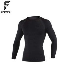Polyester Fabric Design Running Compression Shirts / Hot Sports Wear