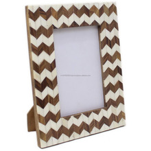 Black Bone Inlay Picture Frame
