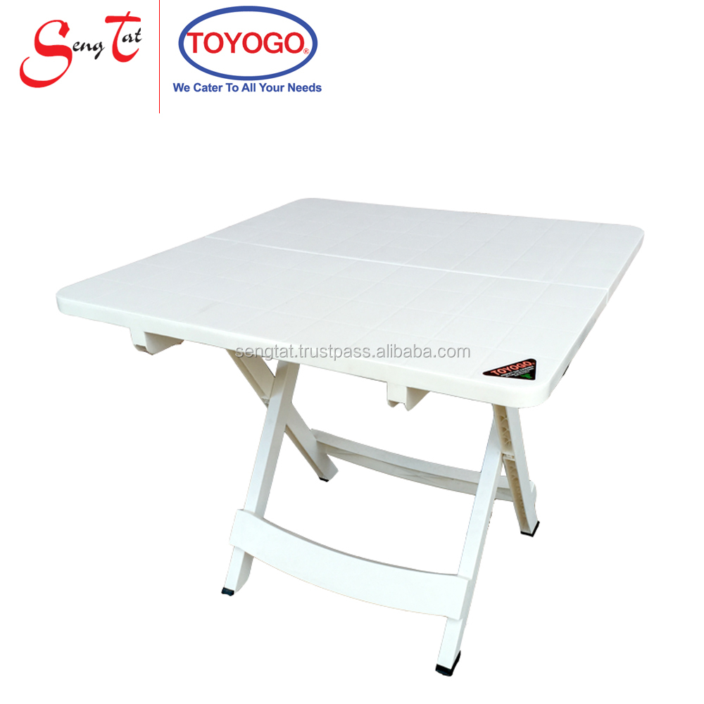 Strong and Sturdy UV Inhibitor Space Saving Square Foldable Garden Table (654)