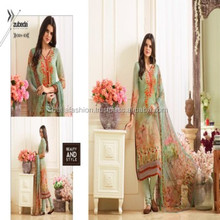 Full Designer Embroidery and Print Worked Salwar Suit For Indian and Pakistani Woman Wear Dress