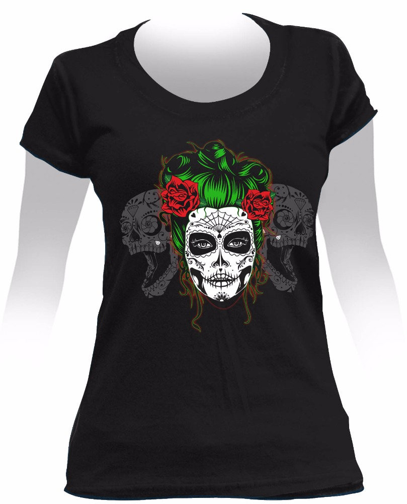 High Quality Printed Cotton Female T-shirt - DEAD GIRL