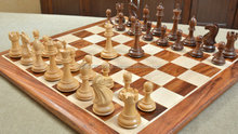 The Romeo Series Weighted Wooden Chess Pieces in Sheesham & Box Wood