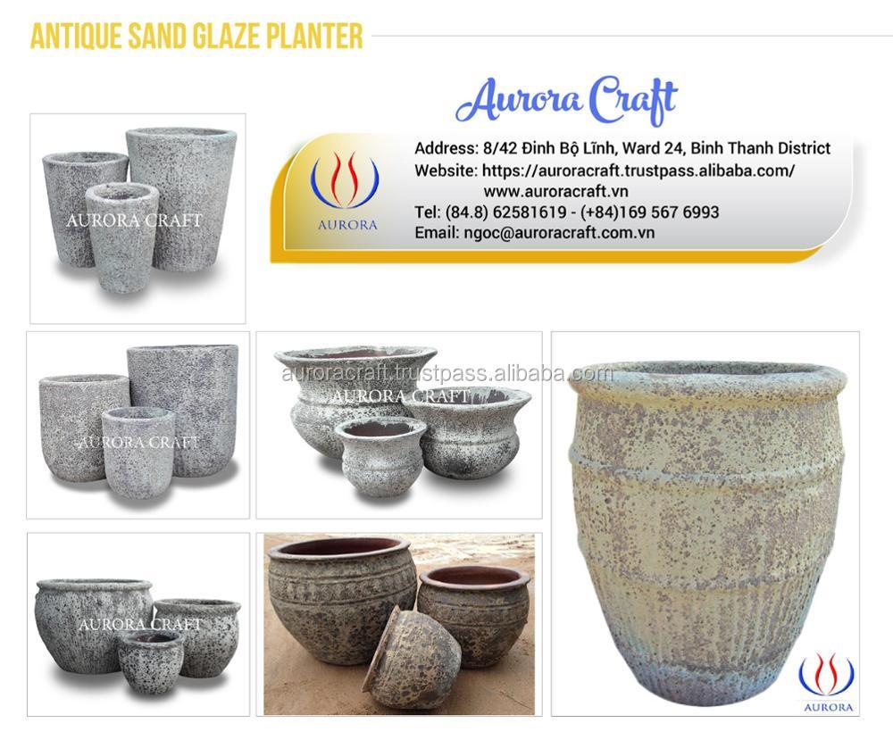 Handmade Outdoor Atlantic Pottery Pots/Planter