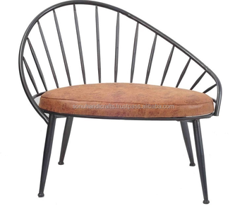 Industrial Iron Wooden Chair