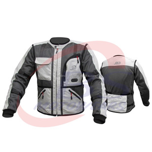 Motorcycle Riding Cordura and Mesh Jacket With Armor