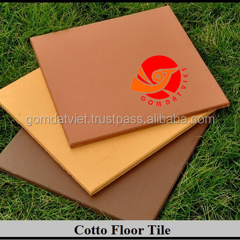 Vietnamese Flooring tile natural clay terracotta light red color for Japan