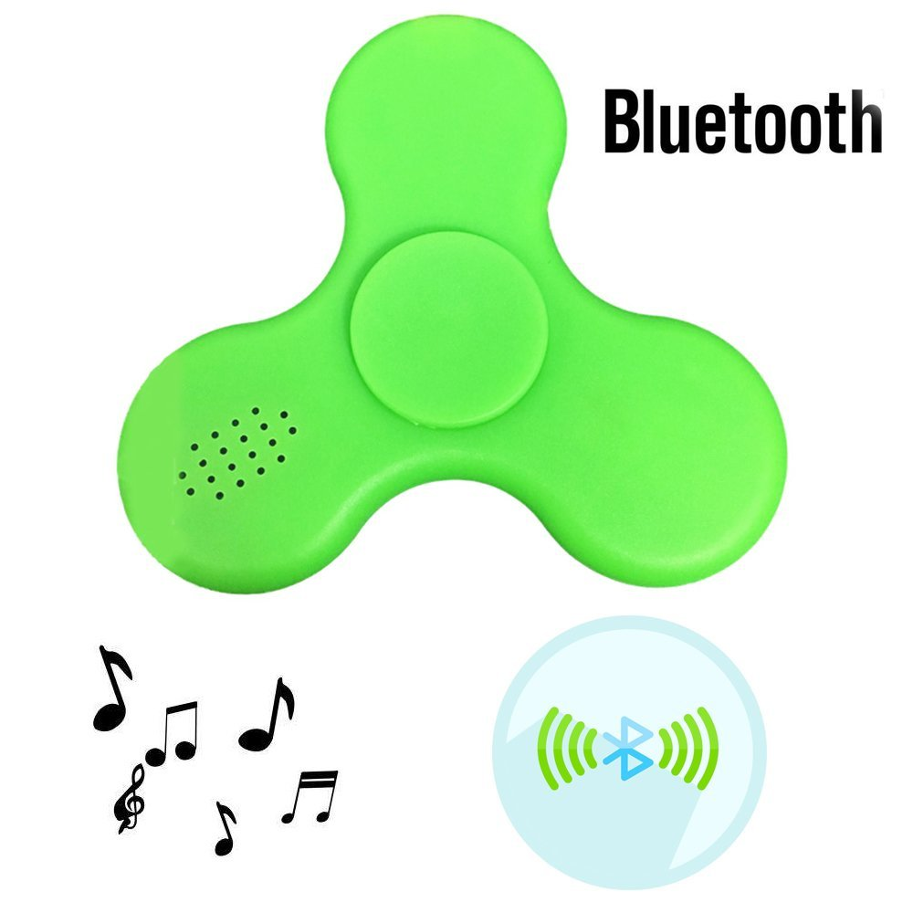 Fidget Hands Spinner Toy LED Light with Bluetooth Speaker USB Power Supply, Hand Finger Groy Toy for Killing Time Relieve