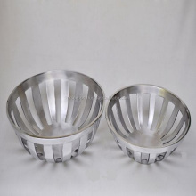 aluminium shiny serving bowls