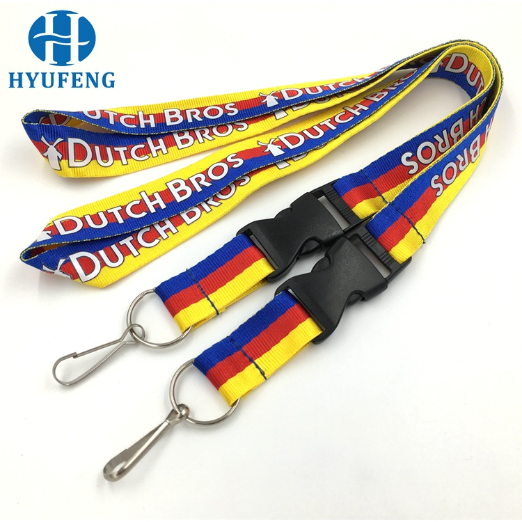 Nice fashion tube lanyard adjustable nylon strap
