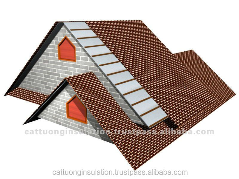 Insulation Material using for steel structure, tile roof and metal roofing