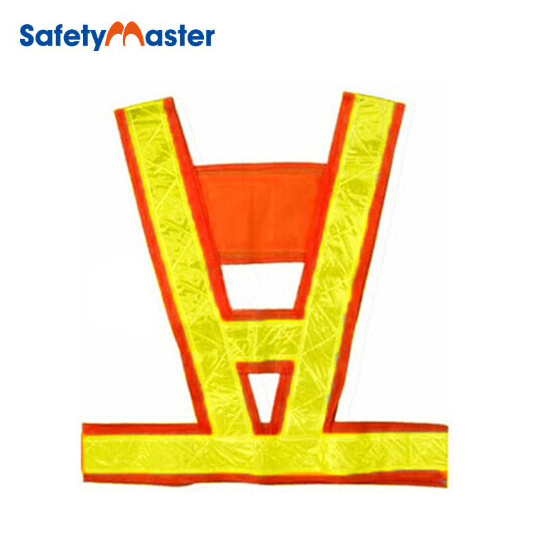Safetymaster airport yellow traffic safety strap vest